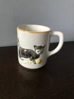 Brazil cicás macskás csésze / bögre kerámia domború cica macska mintával