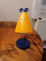 Massive, egérfej formájú búrával készült gyermek asztali lámpa. Nagyon mutatós és jópofa, működik!
