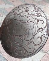 Ostya sütő forma,kovàcsolt vas, gyönyörű Barokk minta  sütő forma díszes