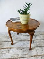 Gyönyörű,szecessziós kör asztal,asztal,dohányzó asztal