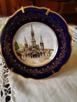 Limoges porcelán kis tányér állványon