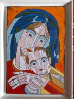 Józsa János Anya gyermekével