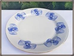 Ritka, kék mintás Alföldi porcelán lapos tányér