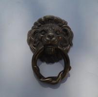 Régi Ajtó Kopogtató tömör réz oroszlán