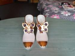 Porcelán cipő pár Capodimonte