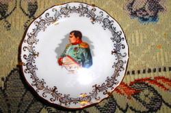 Limoges porcelán tálka-Napoleon  portréval