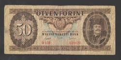 50 forint 1951.  VG!!  RITKA!!