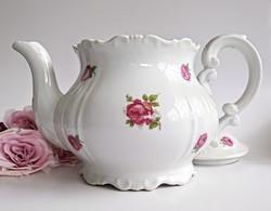 Régi Zsolnay rózsás nagy teás kanna