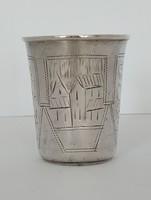 Ezüst orosz pohár