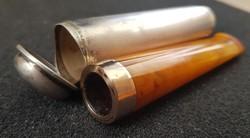 Arany-ezüst-borostyán szipka