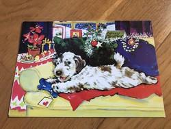 Karácsonyi kiskutyás képeslap