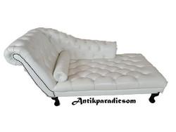 A327 Gyönyörű chesterfield bőr kanapé, szófa