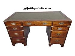 A329 Nagyon szép antik Angol bőrlapos íróasztal
