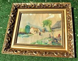 Neogrády Antal EREDETI alkotás 3040-s akvarell, papír