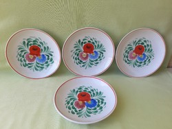 Retro raven house porcelain plate, decorative plate (4 pcs)