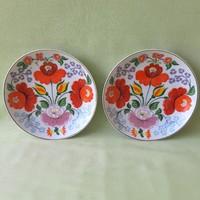 Kalocsai  porcelán tányér, dísztányér ( 2 db)