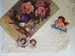 Vintage bross/kitűző rózsás