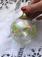 Rosenthal dúsan mintázott üveggömb, karácsonyfadísz