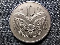 Új-Zéland II. Erzsébet maori maszk 10 Cent 1973 (id48711)