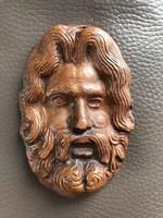 Krisztus fej, Jézus portré fali kerámia