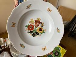 Zsolnay 12 db-os tányérkészlet pajzsos jelzéssel