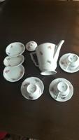Zsolnay manófüles kávés csészék és kiöntő