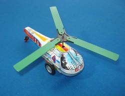 RETRO lendkerekes rendőrségi helikopter (Lemezárugyár)