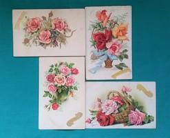 Nagyon szép,régi,külföldi virágos képeslapok,üdvözlőlapok a 60- s évekből
