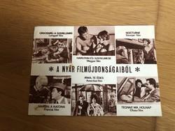 A nyár filmújdonságai képeslap