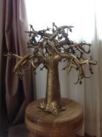 Nagy méretű kézműves bronz fa szobor 12,7kg!