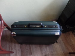 President sötétzöld bőrönd