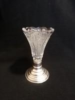 Ezüst talpú kis váza