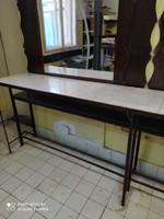 Retro, industrial, loft, workbench made of iron