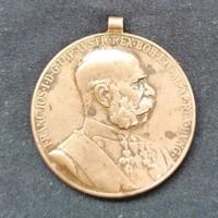 Ferenc József bronz kitüntetés SIGNUM MEMORIAE