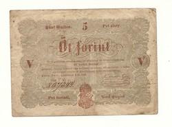 1848 as 5 forint Kossuth bankó papírpénz bankjegy 1849 es szabadságharc pénze sor ü n g