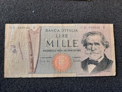 Olasz 1000 Líra 1969