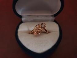 Különleges 14K arany gyűrű cirkóniával 1.