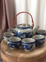 Kínai kerámia teás készlet sárkány motívummal