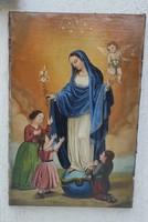 Gyönyörű antik, festmény Szentkép,XlX.szàzad letisztított àllapotban