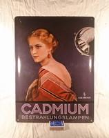 Lemez reklámtábla, CADMIUM lámpa
