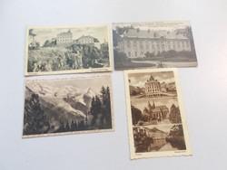 4db régi antik képeslap