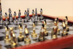 Egyiptom sakk készlet fém