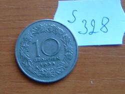 AUSZTRIA OSZTRÁK 10 GROSCHEN 1925 75% réz, 25% nikkel TIROLI NŐ Margaret, Countess S328
