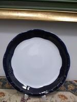 Kobalt kék alapmázas zsolnay süteményes kínáló