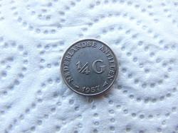 Hollandia ezüst 1/4 gulden 1957