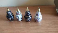 Görög parfümös szelence, parfümtartó 4 db egyben