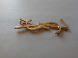 YSL - vintage Yves Saint Laurent aranyozott medál