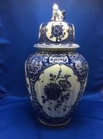 Vintage Boch Belgium  Delft mintas fedeles váza