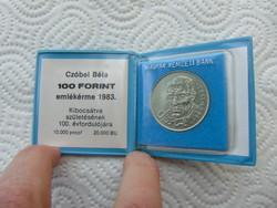 Czóbel Béla 100 forint 1983