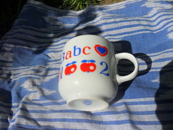 Abc-s retro alföldi bögre